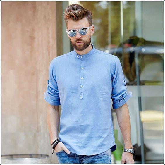 مدل پیراهن مردانه یقه دیپلمات