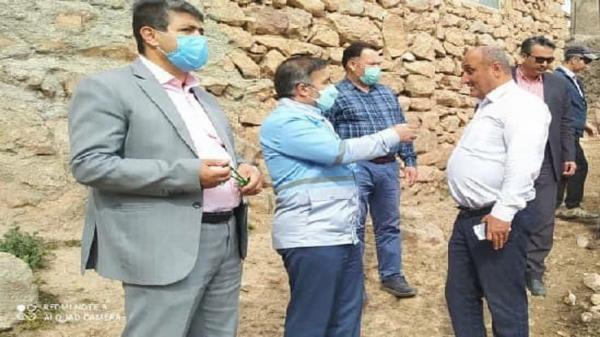 بازدید کارشناسان زمین شناسی از روستا های در معرض خطر استان قزوین
